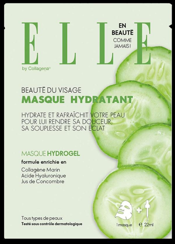 ELLE Moisturizing Face Mask with Cucumber Juice