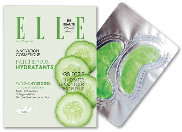 ELLE Eye Patches with Cucumber Juice